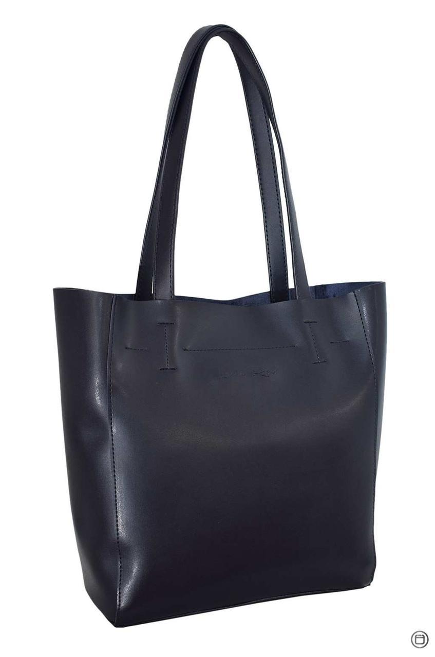 Женская сумка-шоппер кожзам Case 518 синяя