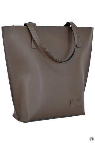 Жіноча шкіряна сумка 146 коричнева, фото 2