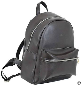 Жіночий міський рюкзак Case 655 чорний шоколад, фото 2