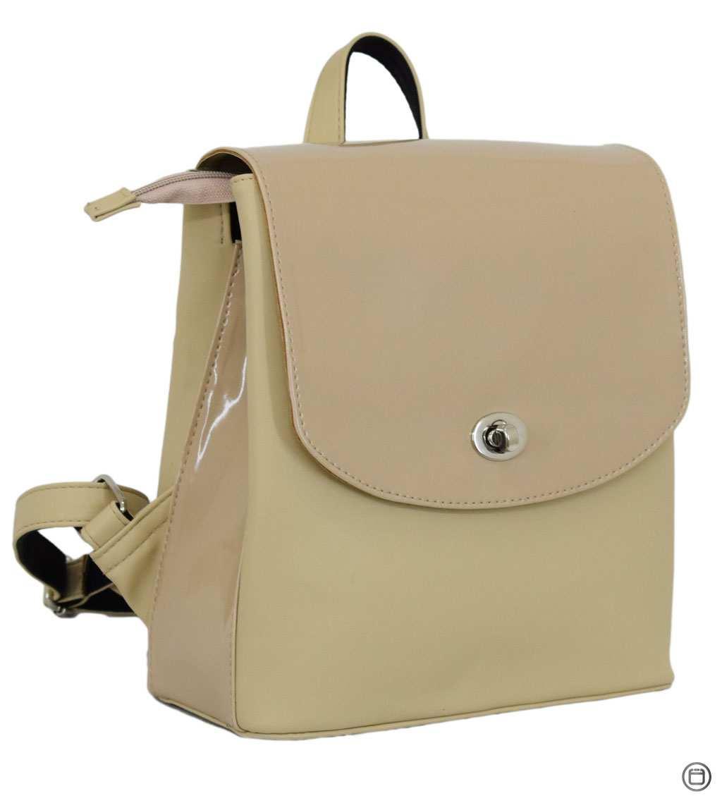 Женский рюкзак  кожзам Case 646 беж лак беж