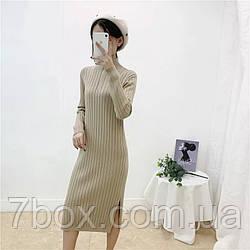 Жіноче плаття в'язка під горло Блискавка оптом універсал 46-50