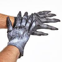 """Перчатки """"Монстр"""" резиновые - оригинальный аксессуар для вашего образа, мужские, фото 1"""