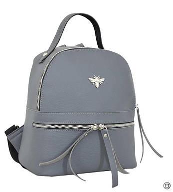 Женский городской рюкзак Case 653 серый, фото 2