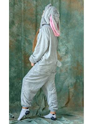 Кигуруми - Заяц (Кролик) - Одежда для дома - Пижама детская, пижама теплая Premium Velsoft