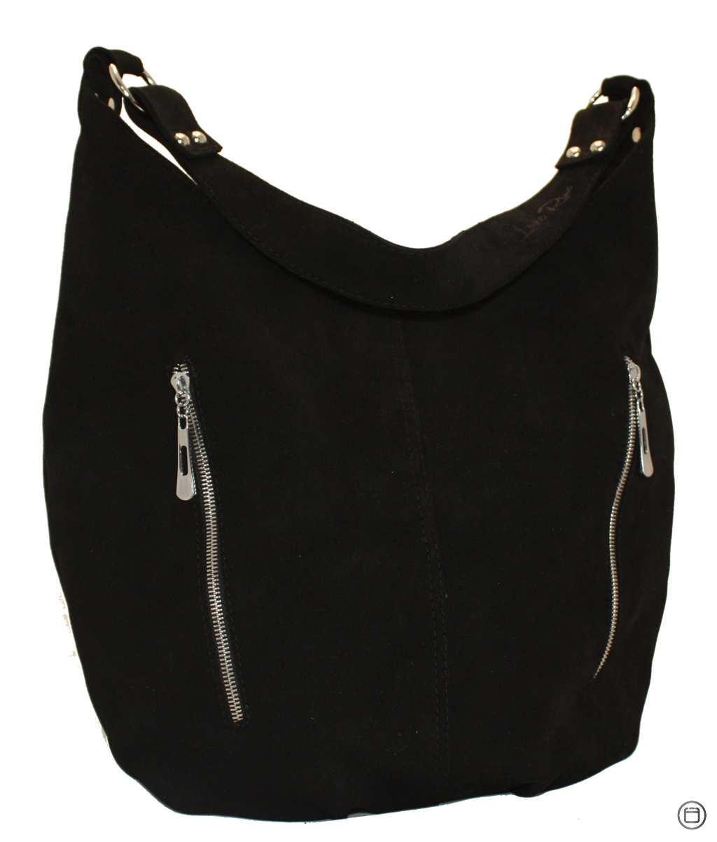Женская кожаная сумка Case 383 черная