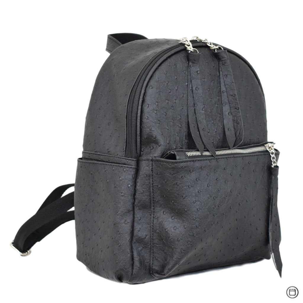 Удобный женский рюкзак Case 450 черная страус