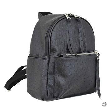 Удобный женский рюкзак Case 450 черная страус, фото 2