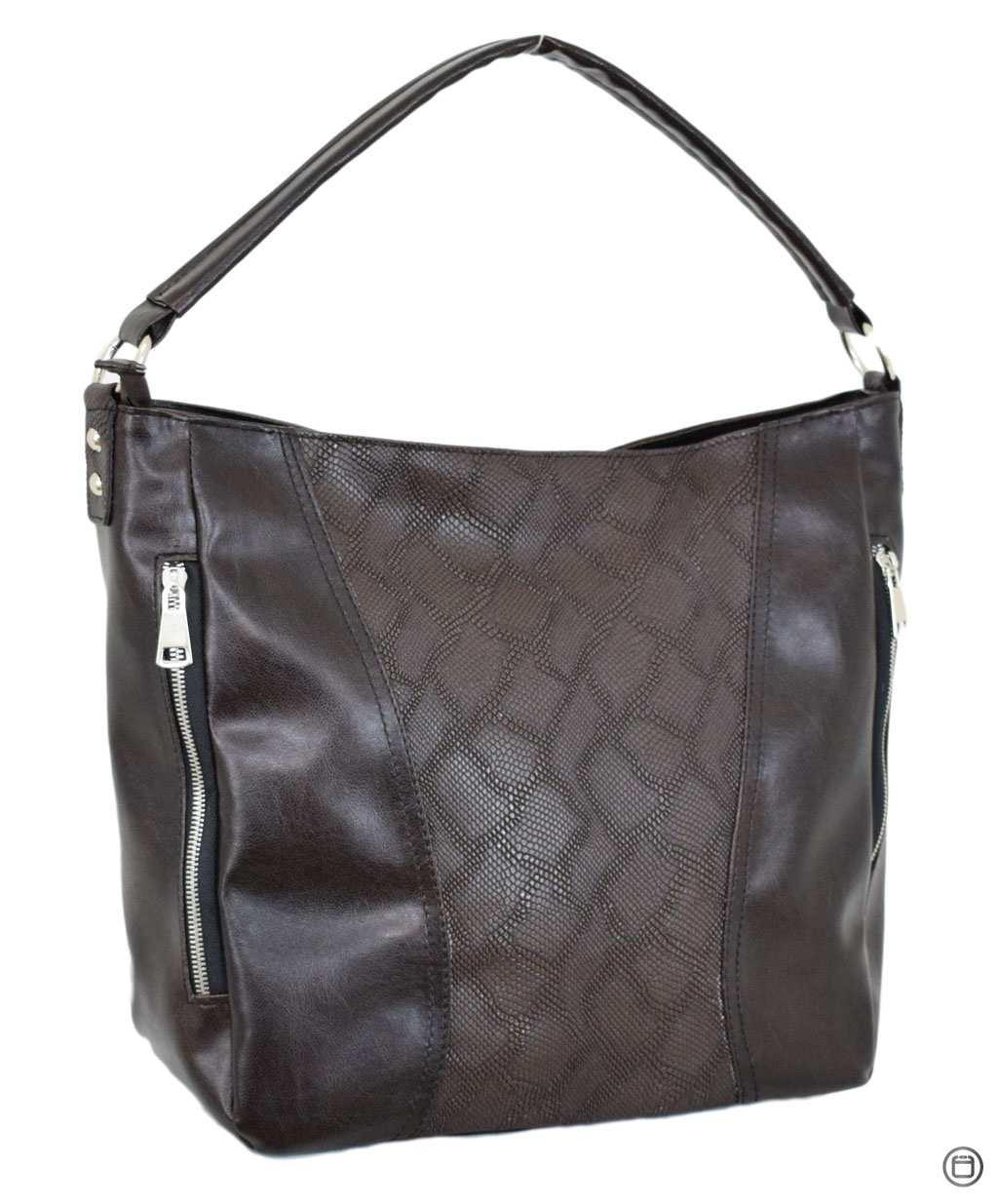 616 сумка пітон коричнева