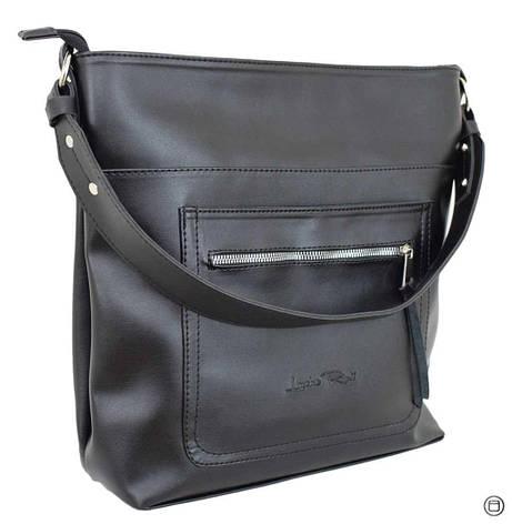 Жіноча сумка кожзам Case 611 сумка чорна г, фото 2