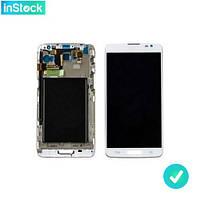Дисплей (экран) для LG D680 G Pro Lite/ D682 G Pro Lite Dual + Сенсор/ Тачскрин (Модуль) белый с рамкой (передней панелью)*