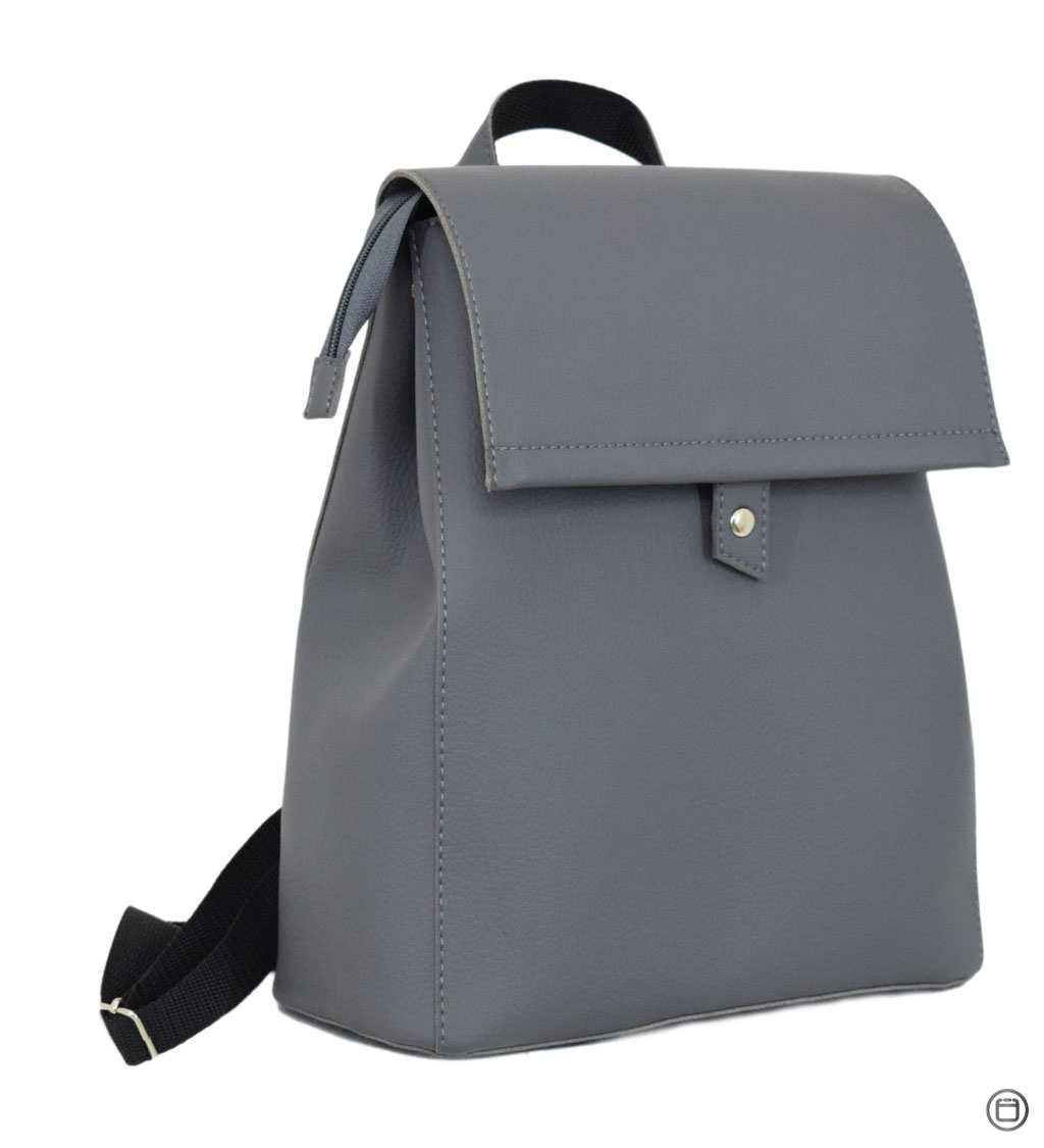 Женский рюкзак кожзам Case 608 серый