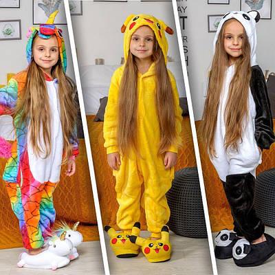 Кигуруми - Панда - Одежда для дома - Пижама детская, пижама теплая Premium Velsoft