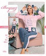Теплая велюровая пижама до 52 размера, фото 1