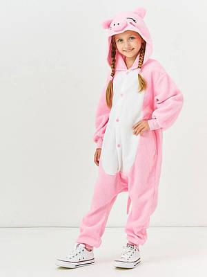 Кигуруми - Свинка - Одежда для дома - Пижама детская, пижама теплая Premium Velsoft