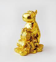 Статуэтка Бык с денежными символами 8 см - бык подарок на удачу символ года 2021