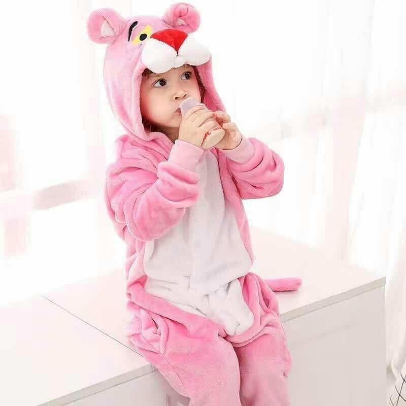 Кигуруми - Розовая пантера  - Одежда для дома - Пижама детская, пижама теплая Premium Velsoft