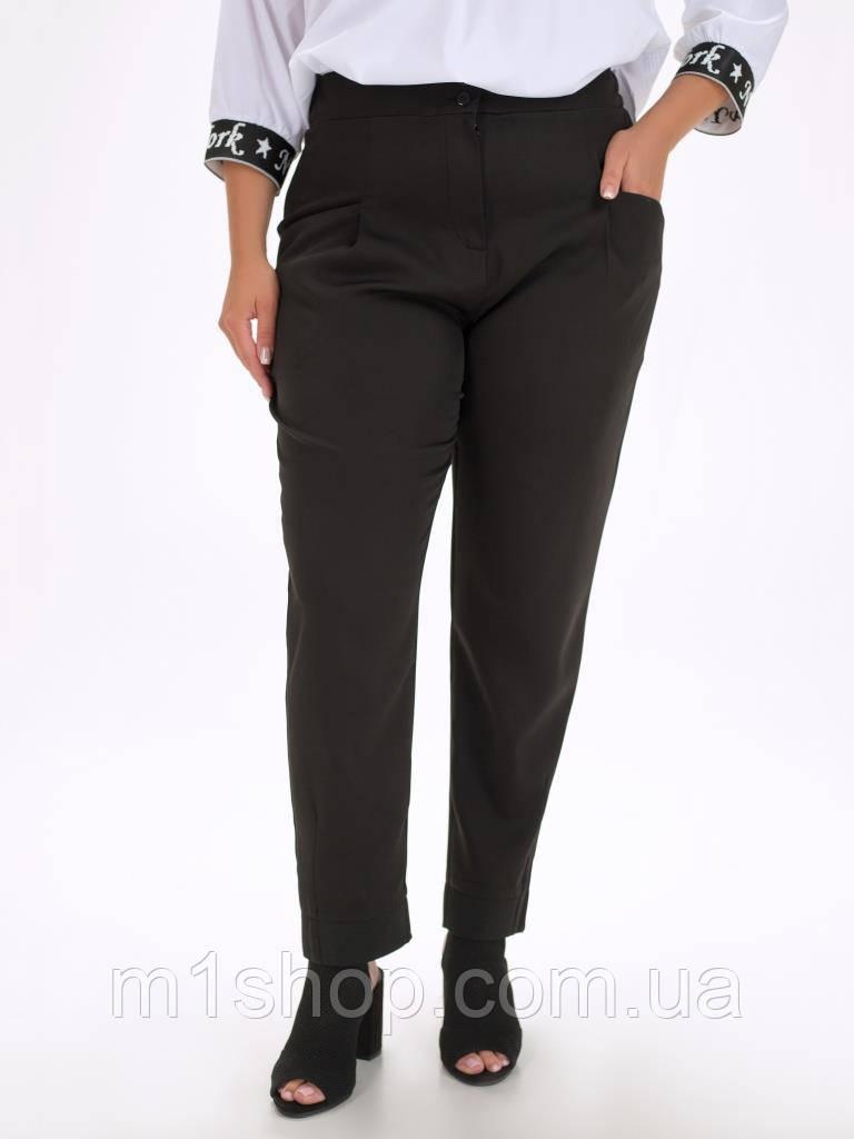 Женские классические черные брюки больших размеров с высокой посадкой (Вуди lzn)