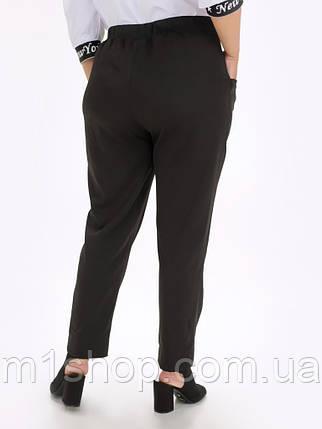 Женские классические черные брюки больших размеров с высокой посадкой (Вуди lzn), фото 2