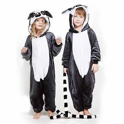 Кигуруми - Лемур  - Одежда для дома - Пижама детская, пижама теплая Premium Velsoft