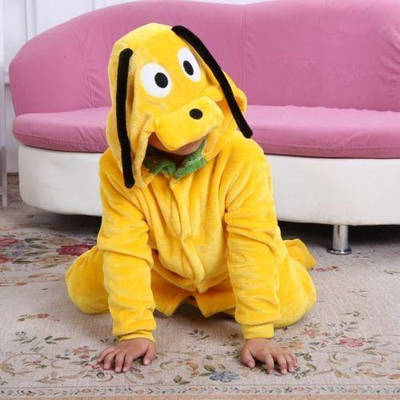 Кигуруми - Желтая собака - Одежда для дома - Пижама детская, пижама теплая Premium Velsoft