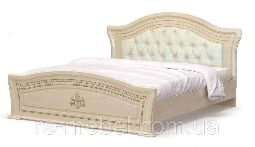"""Ліжко 160 """"Мілано"""", м'яке узголів'я (Мебель-Сервіс)"""