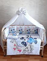 """Детское постельное белье """"Принт""""  с балдахином!"""