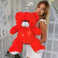 Плюшевый мишка 65 см Красный, Подарок для девушки, детям