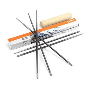 Круглый напильник STIHL (Ø4,0 мм х 200мм) с деревянной ручкой, для пильных цепей с шагом 3/8, фото 2
