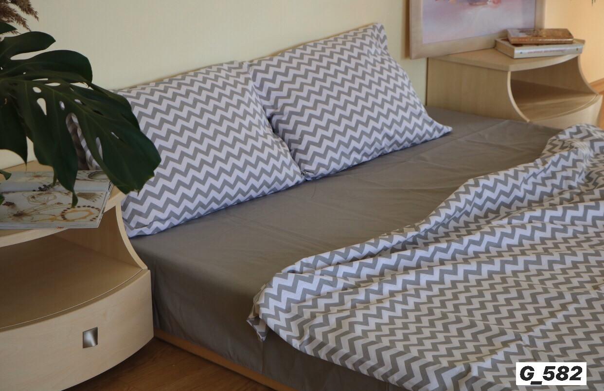 Комплект постельного белья  Бязь GOLD 100% хлопок  Зигзаг