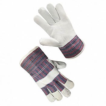 Перчатки спилковые комбинированые замшевые, фото 2