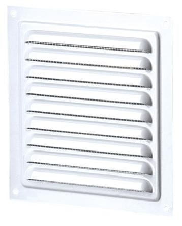 Решетка вентиляционная МВМ 125 белая, металлическая