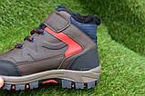 Демисезонные детские ботинки темно коричневые 28 - 35, фото 3