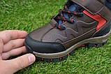 Демисезонные детские ботинки темно коричневые 28 - 35, фото 4