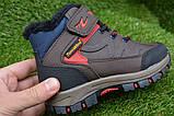 Демисезонные детские ботинки темно коричневые 28 - 35, фото 6