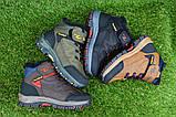 Демисезонные детские ботинки темно коричневые 28 - 35, фото 9