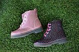 Детские демисезонные ботинки на девочку лаковые розовые р23-28, фото 2