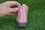 Детские демисезонные ботинки на девочку лаковые розовые р23-28, фото 3