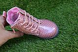 Детские демисезонные ботинки на девочку лаковые розовые р23-28, фото 6