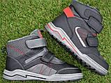 Подростковые демисезонные сапоги ботинки на липучке черные р33 - 38, фото 2