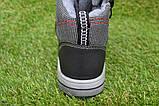 Подростковые демисезонные сапоги ботинки на липучке черные р33 - 38, фото 3