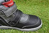 Подростковые демисезонные сапоги ботинки на липучке черные р33 - 38, фото 5