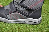 Подростковые демисезонные сапоги ботинки на липучке черные р33 - 38, фото 6