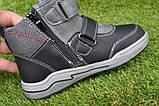 Подростковые демисезонные сапоги ботинки на липучке черные р33 - 38, фото 7