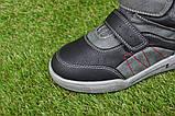 Подростковые демисезонные сапоги ботинки на липучке черные р33 - 38, фото 8