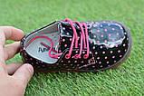Детские демисезонные лаковые ботинки черные р23-28, фото 4
