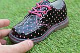 Детские демисезонные лаковые ботинки черные р23-28, фото 6