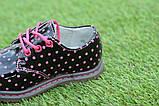 Детские демисезонные лаковые ботинки черные р23-28, фото 8