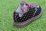 Детские демисезонные лаковые ботинки черные р23-28, фото 10