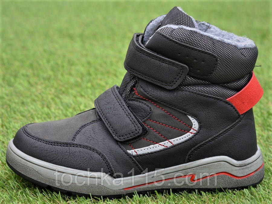 Подростковые демисезонные сапоги ботинки на липучке синие р33 - 38
