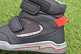 Подростковые демисезонные сапоги ботинки на липучке синие р33 - 38, фото 5